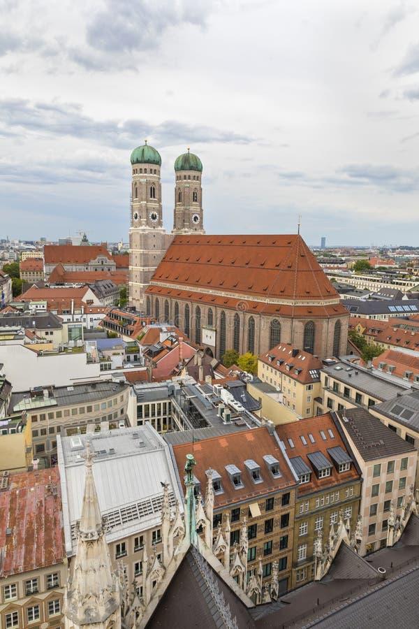 Munich, Alemania 22 de septiembre de 2018 Vista aérea de la ciudad de Munich imágenes de archivo libres de regalías