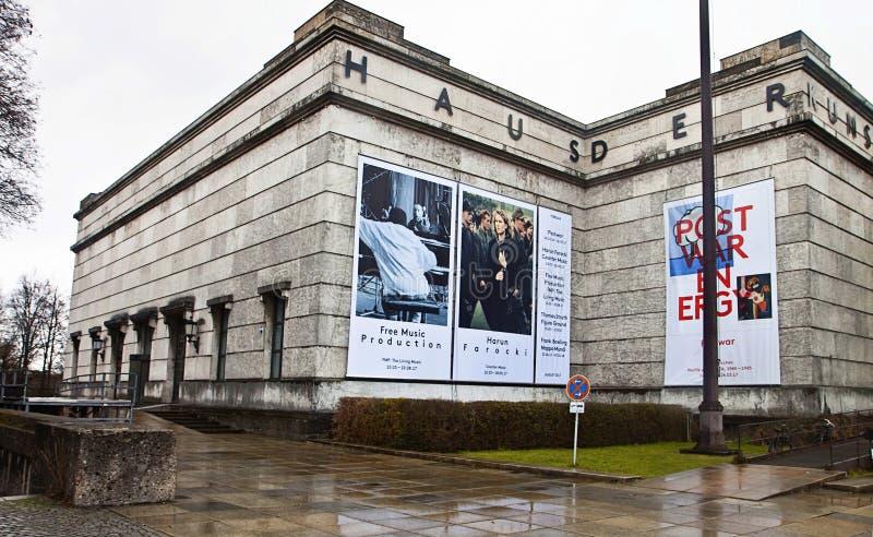 Munich, casa de Kunst del der de Haus del museo de arte moderno del arte fotografía de archivo