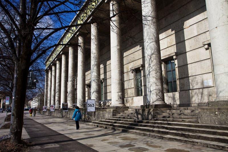 Munich, casa de Kunst del der de Haus del museo de arte moderno del arte, fachada imagen de archivo