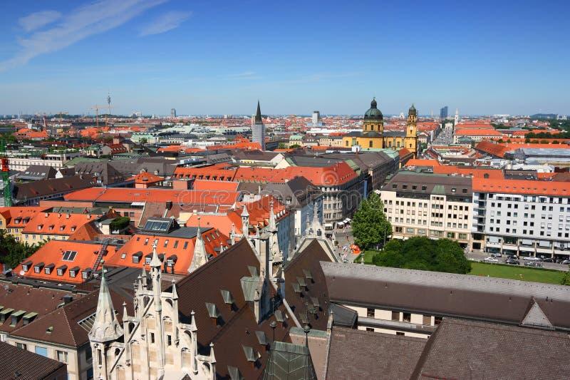 Munich cityscape, Germany. Munich city skyline in Bavaria, Germany. Summer view stock photo