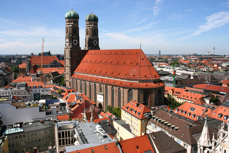 Munich Cityscape Royalty Free Stock Photography