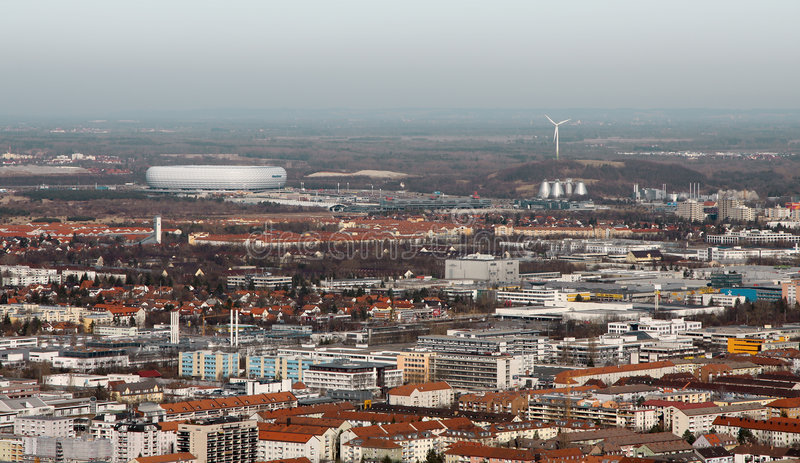 Munich com arena foto de stock