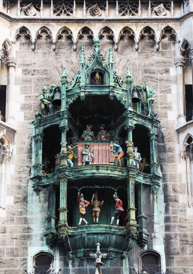 Munich, detalhe do glockenspiel imagens de stock royalty free
