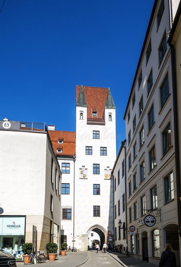 munich El castillo histórico altera Hof, residencia anterior del emper fotos de archivo