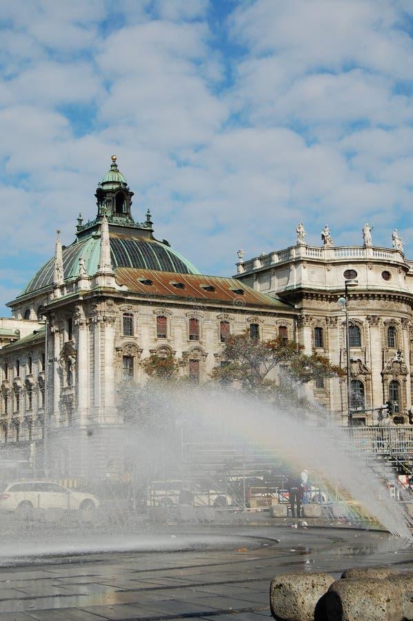 Munich fontainte stock photo