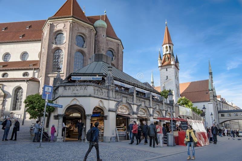 Munich - gataliv royaltyfria bilder
