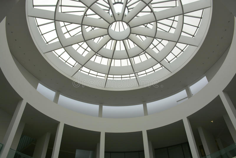 Munich, Germany - 1 Aug 2015 : Pinakothek der Moderne atrium, a modern art museum, situated in the city centre of Munich. stock images