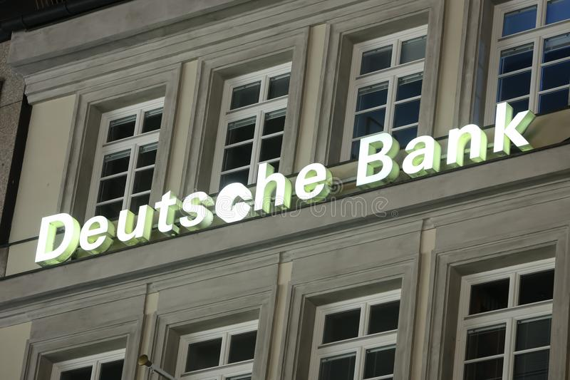 Deutsche bank logo stock photos