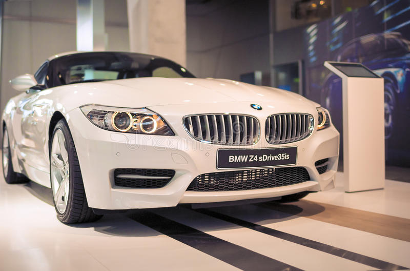 Munich, Germany- june 17, 2012: BMW Z4 sDrive 35is Roadster Coup. E Automobile on Stand in BMW Museum in June 17, 2012, Munich, Republic of Germany. Horizontal royalty free stock images