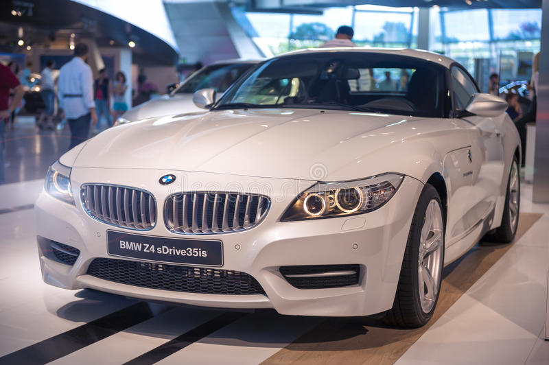 Munich, Germany- june 17, 2012: BMW Z4 sDrive 35is Roadster Coup. E Automobile on Stand in BMW Museum in June 17, 2012, Munich, Republic of Germany. Horizontal royalty free stock photography
