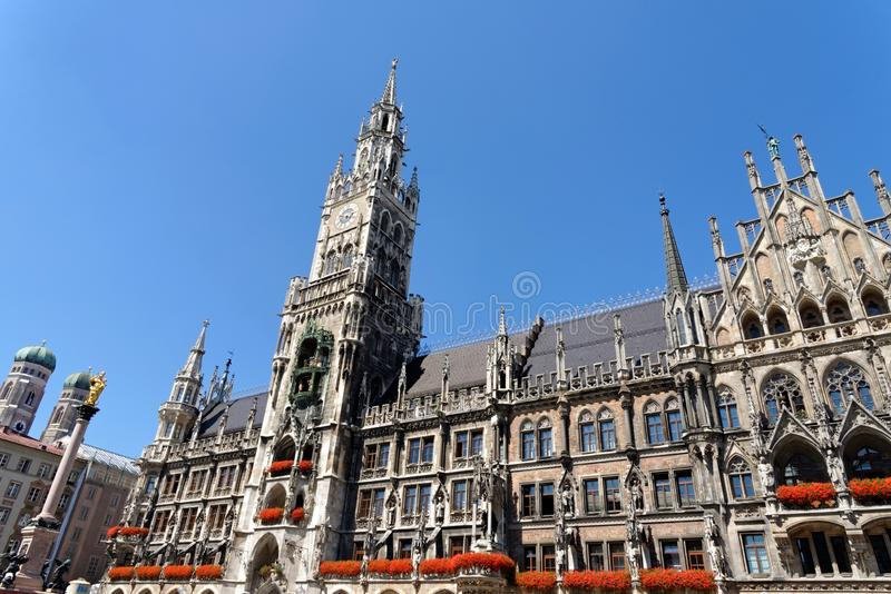 Munich, Germany, New Town Hall. It hosts the city government including the city council, offices of the mayors and part of the administration royalty free stock photography