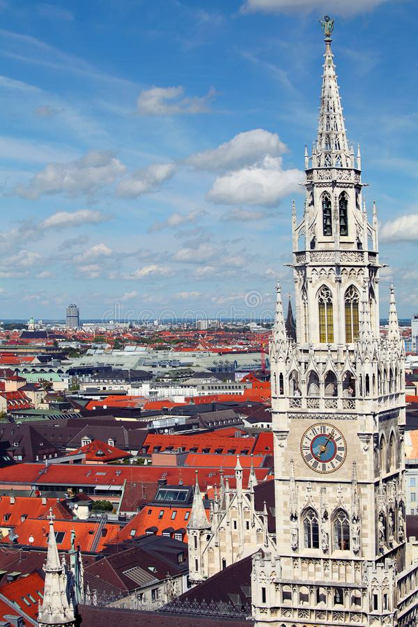 Munich, Germany. Old town. Roofs of houses stock photos
