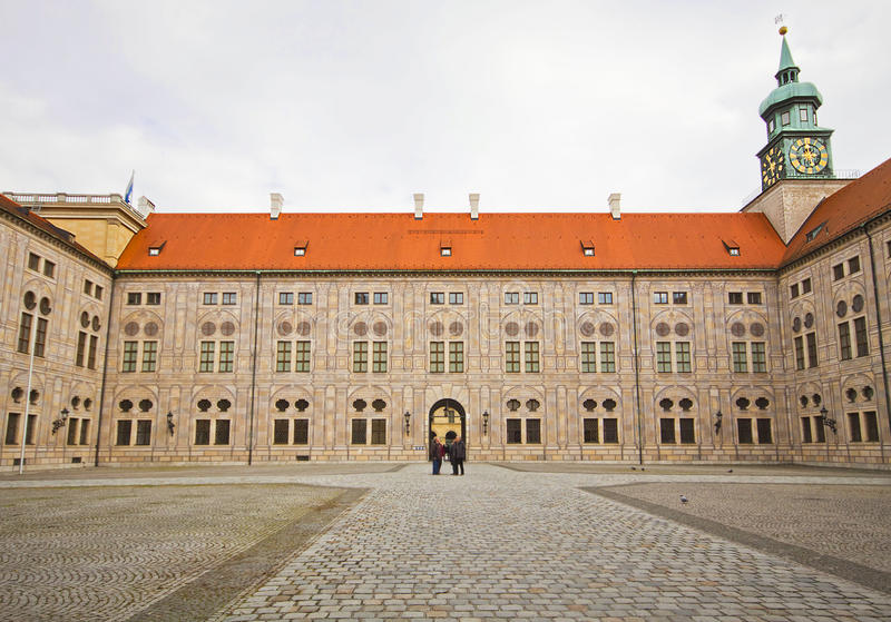 Munich Germany - Residenz palace court yard stock image