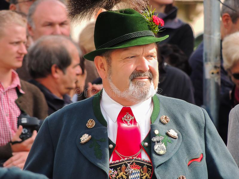 Munich, Germany - 22 September 2013 Oktoberfest, parade. Portrai royalty free stock image
