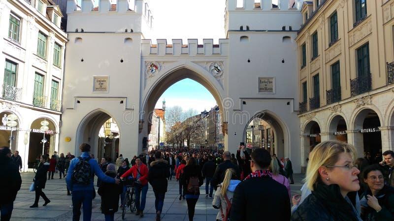 Munich Karlsplatz stock image