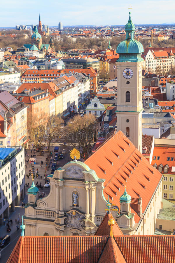 Download Munich Panorama With Old City Hall Stock Image - Image: 38629701