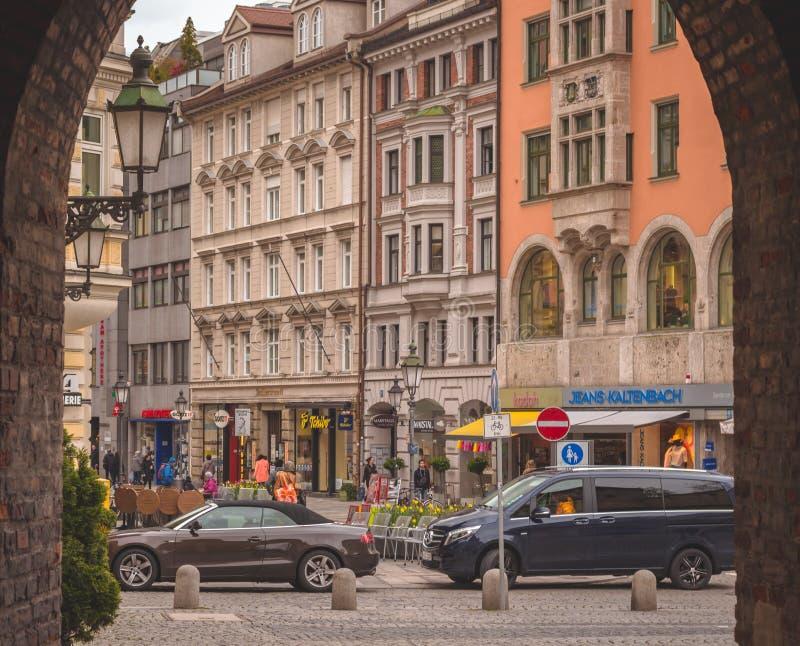 Portal in Sendlinger-Tor-Platz stock photos