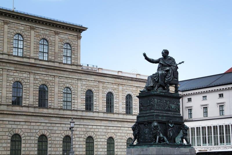 Munich Residence with Status. Outside Munich Residence at Munich, Germany, with Status stock images