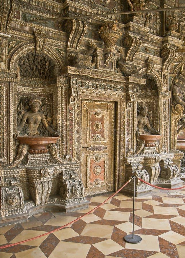 Munich, Residenz, Grotto wall stock image