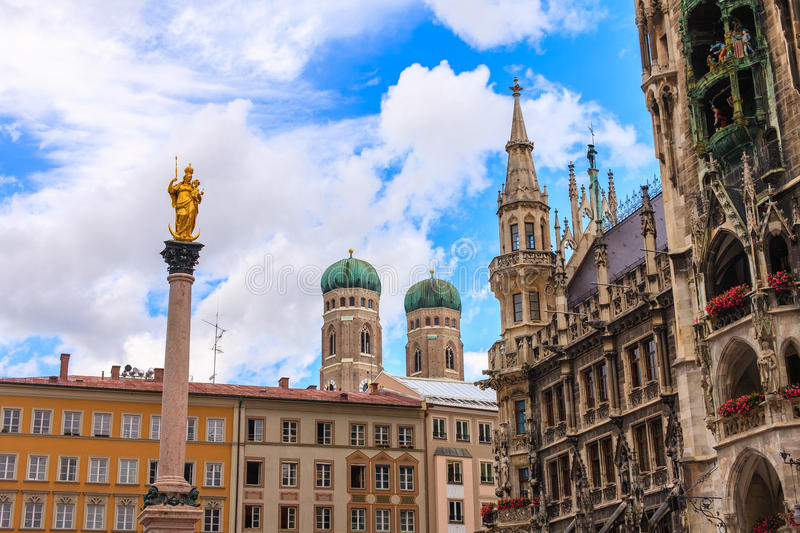 Munich town centre, Germany. royalty free stock images