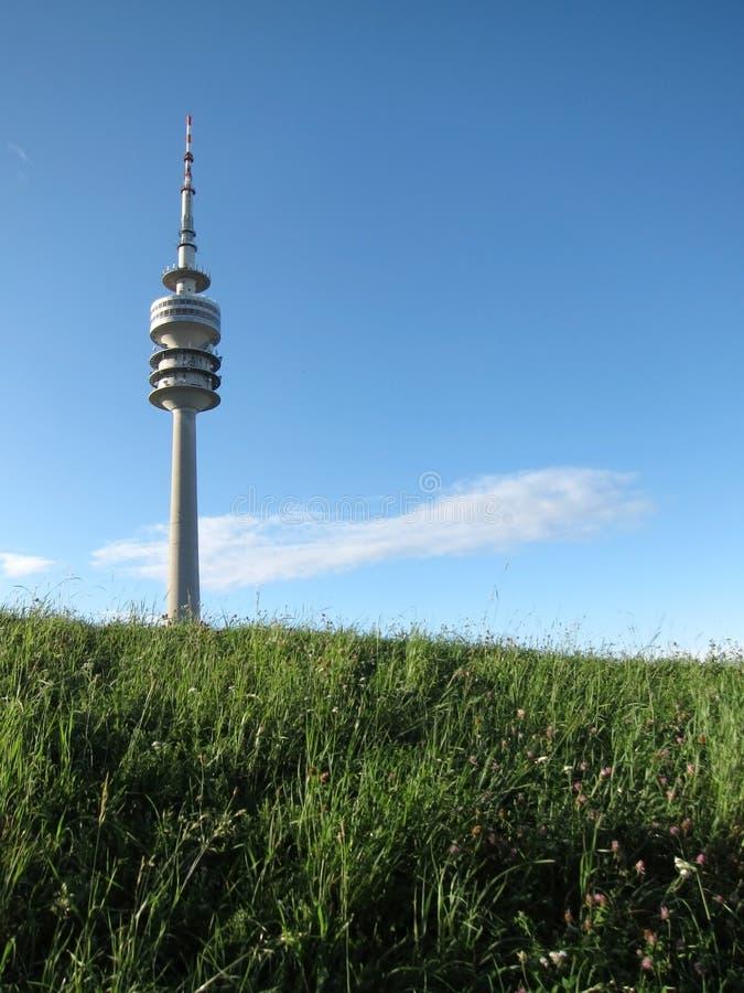 Munich tv tower stock photos