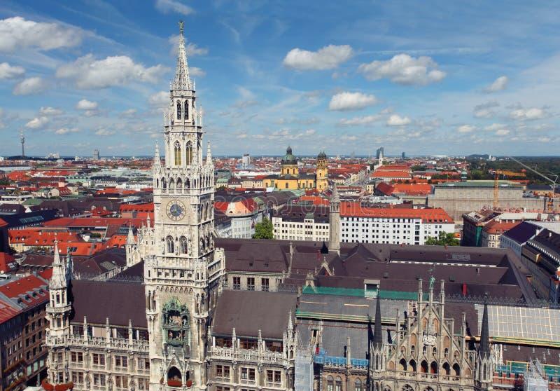 Munich Tyskland gammal town arkivbild