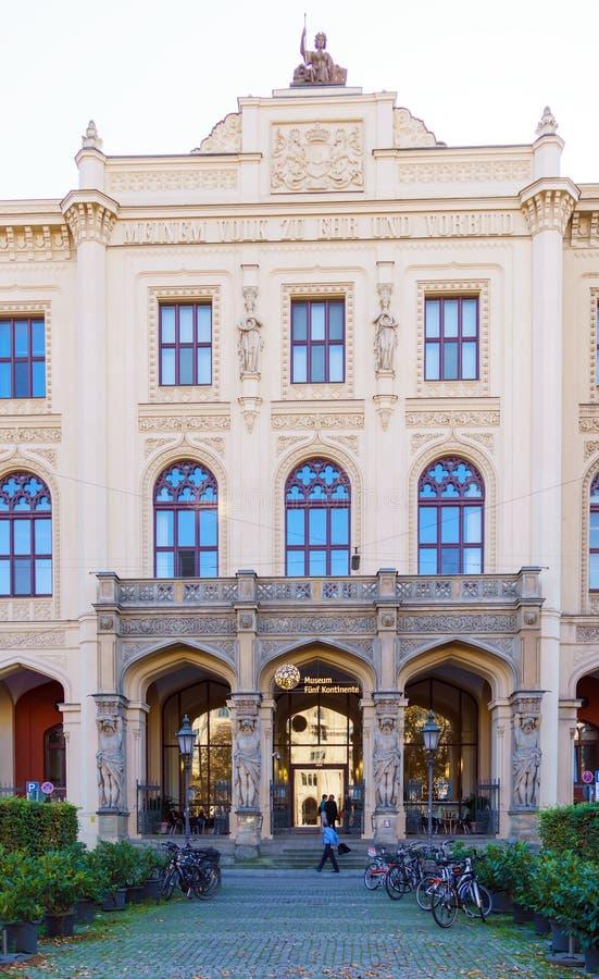 Munich Tyskland - Oktober 20, 2017: Museum av fem kontinenter K royaltyfri bild