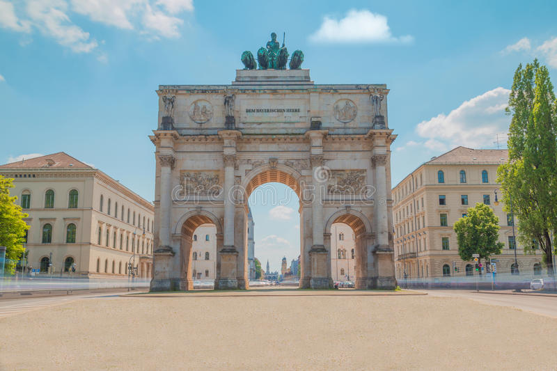 Munich Victory Gate foto de archivo libre de regalías
