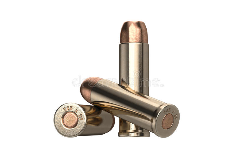 Munición del arma de la bala fotos de archivo libres de regalías