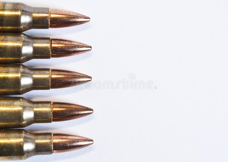 Munición del rifle imagenes de archivo