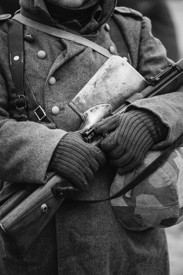Munición militar alemana de un soldado alemán At Worl de Wehrmacht imagenes de archivo
