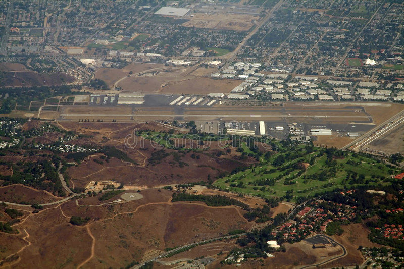 Municipal airport. Small municipal airport in california stock photo