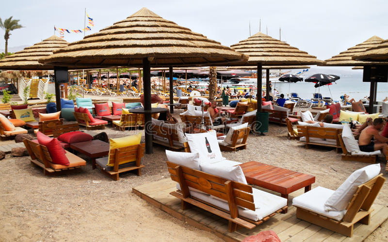 Municipal Beach in Eilat, Israel royalty free stock photography