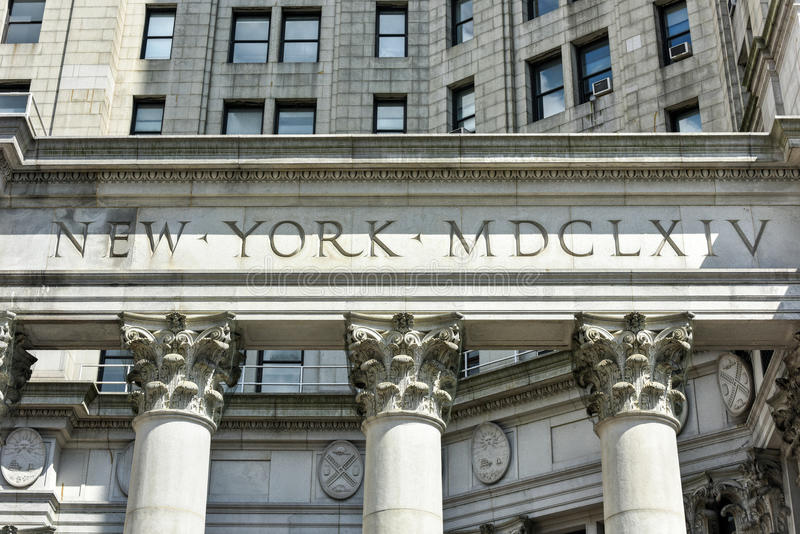 Municipal Building - New York City. Municipal Building in Manhattan, New York City, is a 40-story building built to accommodate increased governmental space royalty free stock photography