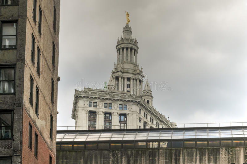 Municipal Building in New York City. Neoclassical Municipal Building in New York City royalty free stock photos