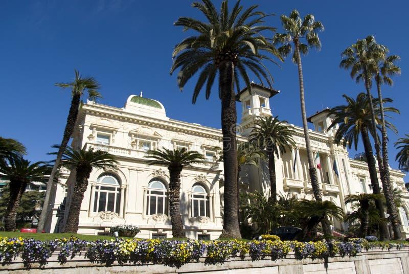 Sanremo Municipal Casino, Italy stock photography