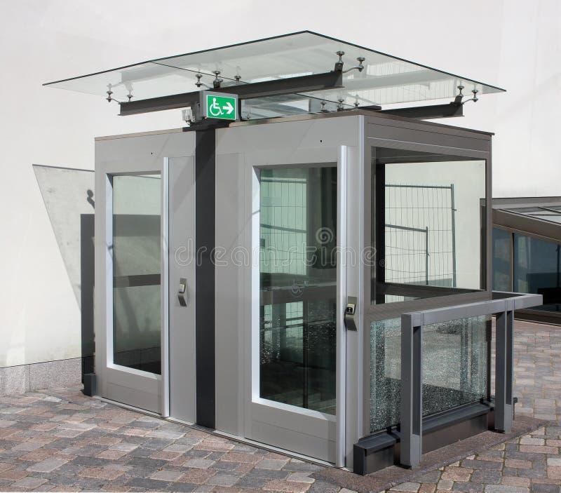 The municipal city elevator stock image