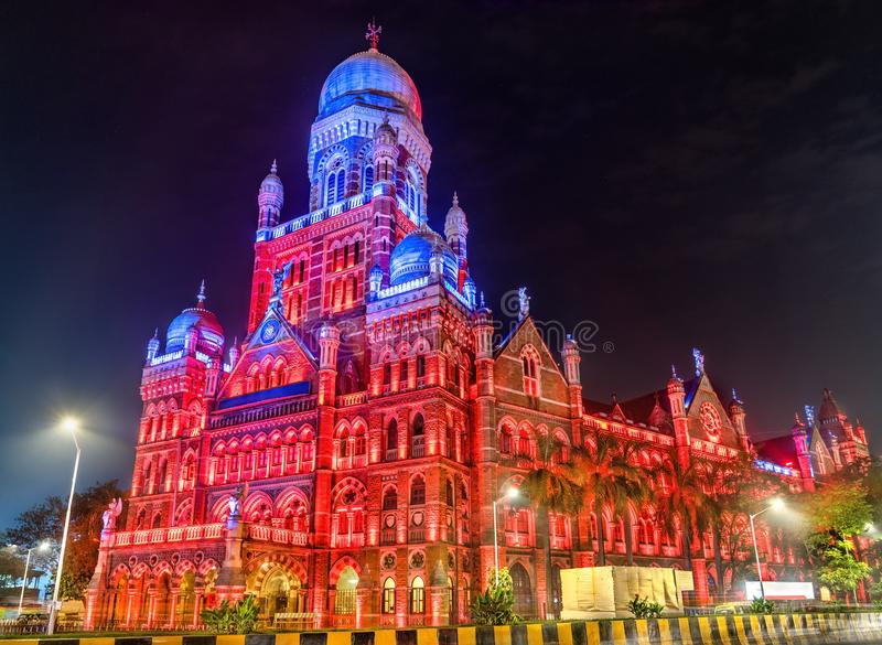 Municipal Corporation Building. Built in 1893, it is a heritage building in Mumbai, India royalty free stock photos