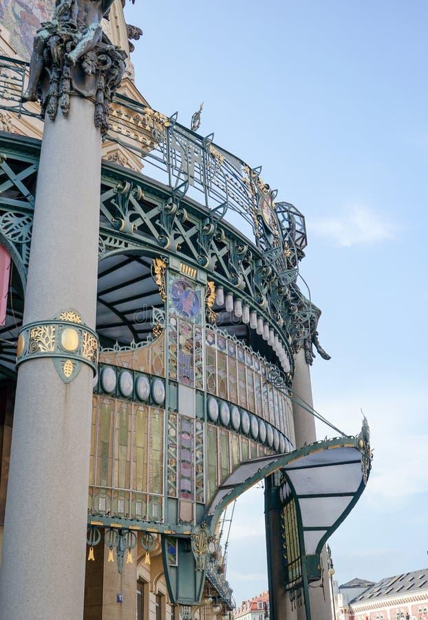 Municipal et représentant House dans Pragu image libre de droits