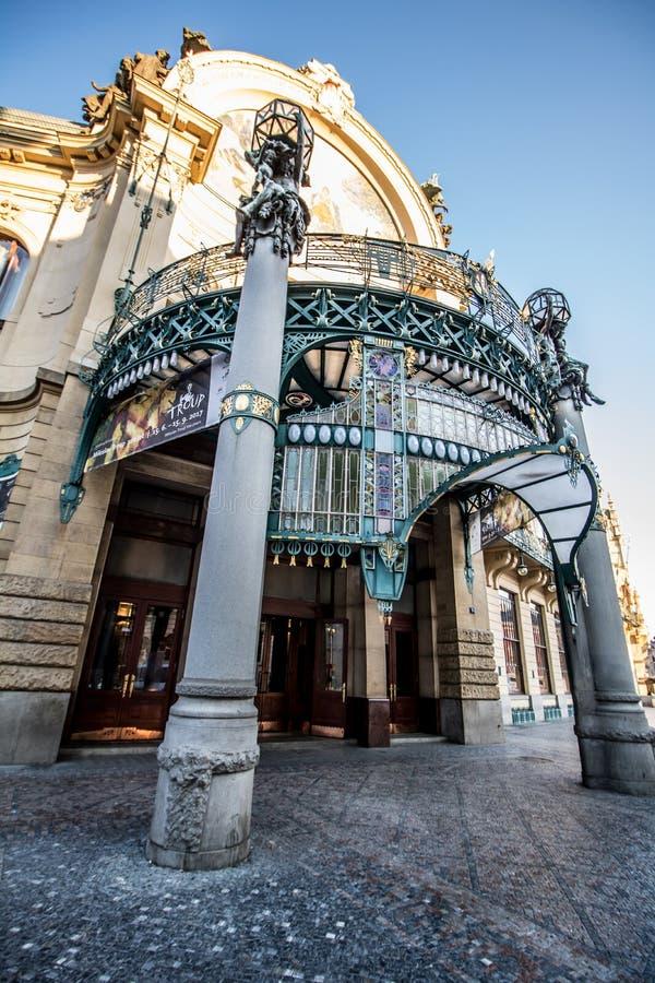 Municipal House in old Prague, Czech Republic stock photo