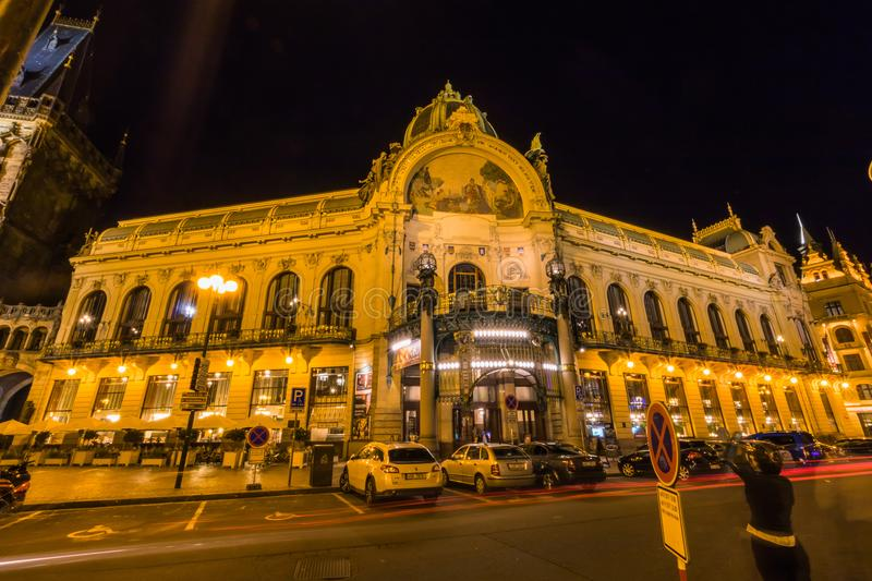 Municipal House in old Prague, Czech Republic royalty free stock images