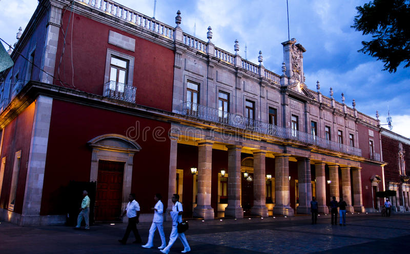 Municipal Palace. Aguascalientes, Mexico. Municipal Palace, Plaza de la Patria, in Aguascalientes, Mexico. This city in central Mexico, is home to the World stock photos
