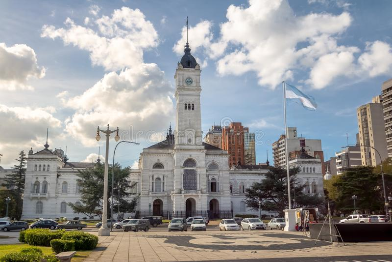 Municipal Palace, La Plata Town Hall - La Plata, Buenos Aires Province, Argentina. Municipal Palace, La Plata Town Hall in La Plata, Buenos Aires Province stock photo