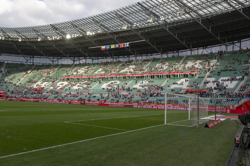 Municipal Stadium in Wroclaw royalty free stock photography