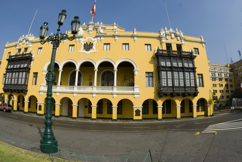 Municipalidad de Lima do La fotografia de stock