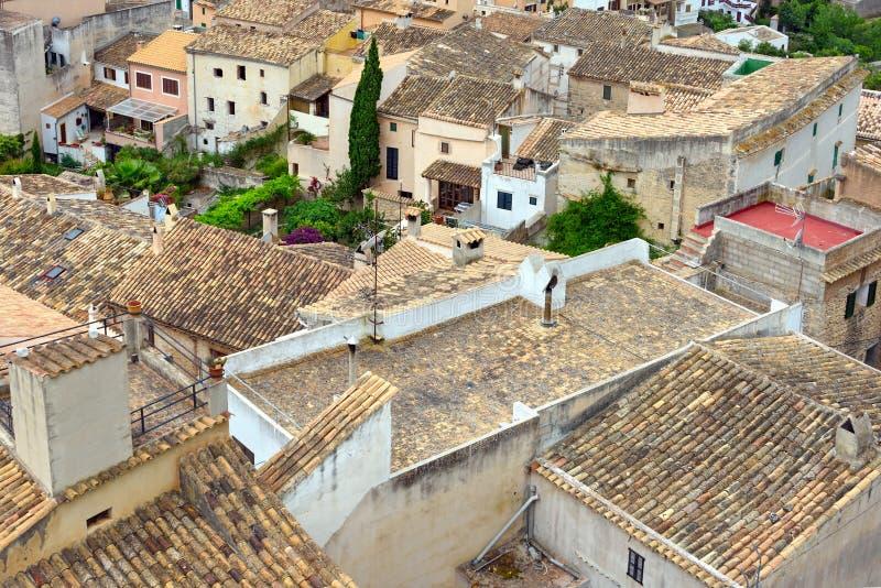 A municipalidade velha de Capdepera Ilha Majorca, Espanha fotos de stock royalty free