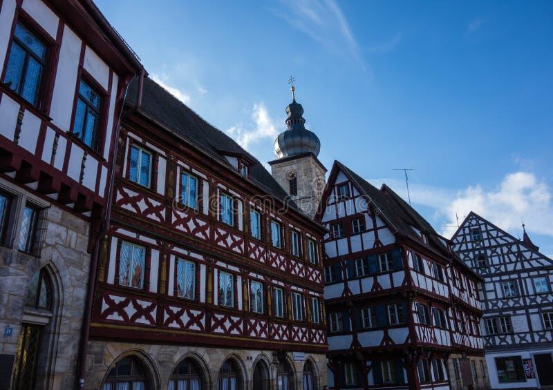 Municipalità di forchheim bavaria germania fachwerkhaus immagine stock