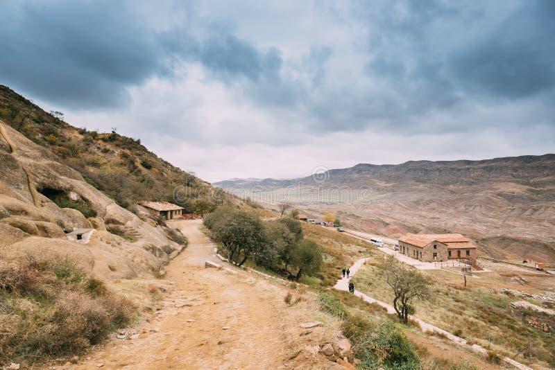 Municipalité de Sagarejo, région de Kakheti, la Géorgie David Gareja Monastery Complex antique photographie stock libre de droits