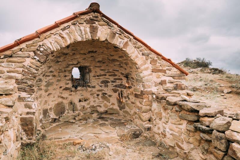 Municipalité de Sagarejo, région de Kakheti, la Géorgie Église de la résurrection dans David Gareja Monastery Complex antique photo stock