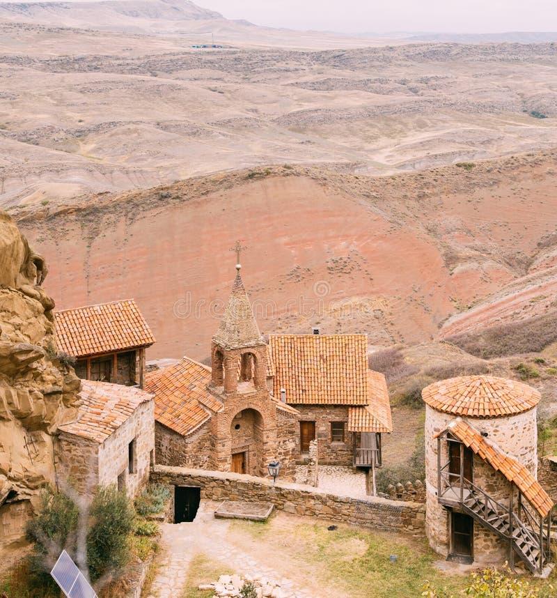 Municipalité de Sagarejo, région de Kakheti, la Géorgie Vieille tour dans antique photographie stock libre de droits